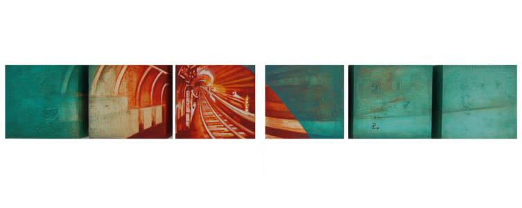 Aquatic Sensation - Acrylic On Canvas 6x40 In