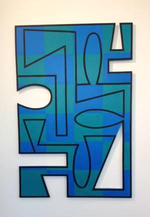 Bendheim La Mer,48x36 , Acrylic On ShapedPVC