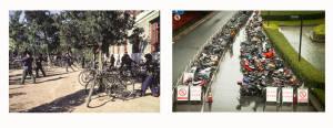 Tai Chi with bicycles 1980 | Motorbikes 2014