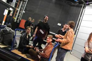 Kids Platique, backstage, waiting for results