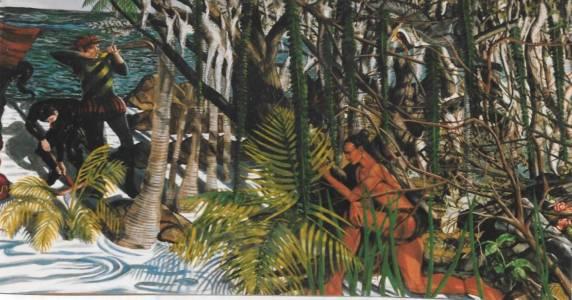Jose Rodeiro The Landing Of Hernando DeSoto In Tampa Bay, Tampa Convention Center (detail)