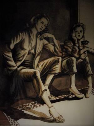 Jose Rodeiro Two Women Waiting