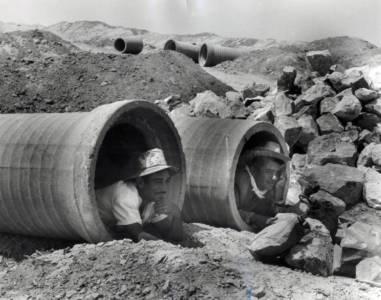 Construction Site, 1940s, Gelatin Silver Print, 10 X 8