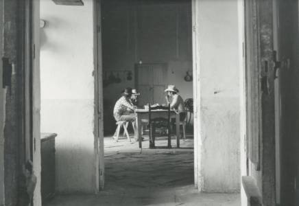 Morning Breakfast, Hacienda Tepetates, 1984 ,Vintage Gelatin Silver Print, 16 X 20
