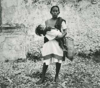 Mother Of Campeche,  Vintage Gelatin Silver Print, 7.75 X 8.75