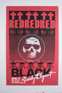Red And Black Poster