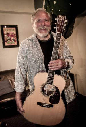 Jorma Kaukonen with his signature Martin M-30 acoustic guitar