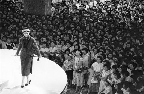 Fashion show at the Mitsukoshi department store. Nihonbashi, Tokyo 1956. Shigeichi Nagano