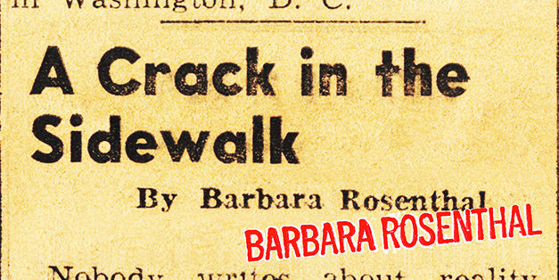 Barbara Rosenthal/A Crack in the Sidewalk